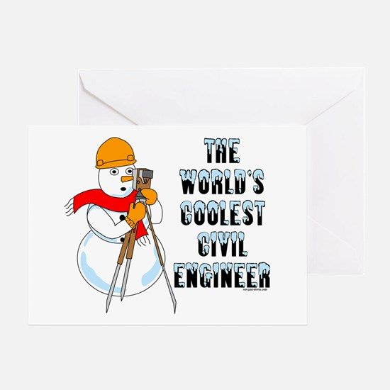 Coolest Civil Engineer Greeting Card