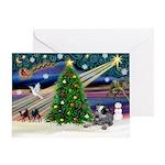 XmasMagic/Cattle Dog Greeting Card
