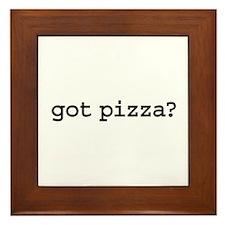 got pizza? Framed Tile