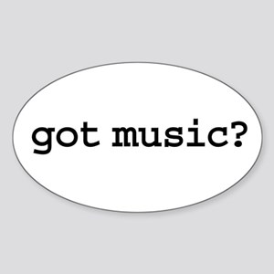 got music? Oval Sticker