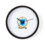 DECHAINE Family Crest Wall Clock
