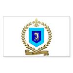 DECHAINE Family Crest Rectangle Sticker 10 pk)