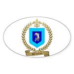 DECHAINE Family Crest Oval Sticker (10 pk)