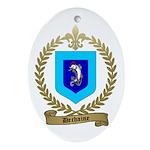 DECHAINE Family Crest Oval Ornament