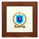 DECHAINE Family Crest Framed Tile