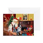 Santa's Aussie Cattle Dog(s) Greeting Card