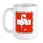 Swiss Musical Note Large Mug