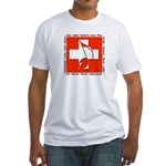 Swiss Musical Note Fitted T-Shirt
