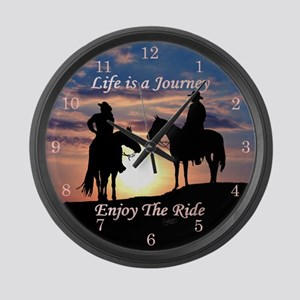Life is a Journey - Large Wall Clock