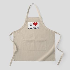 I Love Avacados BBQ Apron