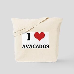 I Love Avacados Tote Bag
