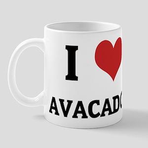 I Love Avacados Mug