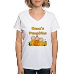 Nana's Pumpkins Women's V-Neck T-Shirt
