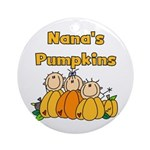 Nana's Pumpkins Ornament (Round)