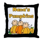 Nana's Pumpkins Throw Pillow