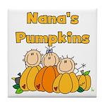 Nana's Pumpkins Tile Coaster