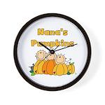 Nana's Pumpkins Wall Clock