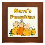 Nana's Pumpkins Framed Tile