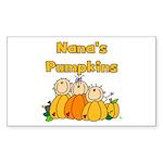 Nana's Pumpkins Rectangle Sticker