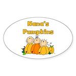Nana's Pumpkins Oval Sticker (10 pk)
