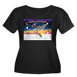 XmasSunrise/Cavalier F1 Women's Plus Size Scoop Ne