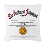 New Father's Day Woven Throw Pillow