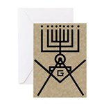 Masonic Hanukkah Menorah Greeting Card