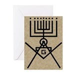Masonic Hanukkah Menorah Greeting Cards (Pk of 20)
