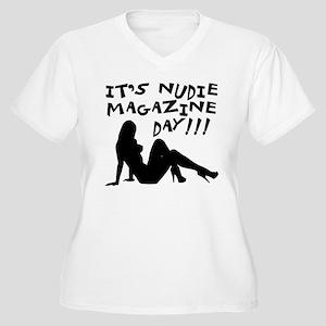 Nudie Magazine Women's Plus Size V-Neck T-Shirt