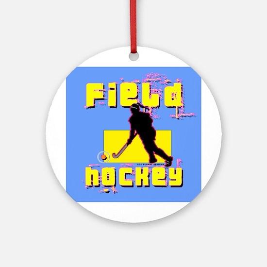 Field Hockey Ornament (Round)