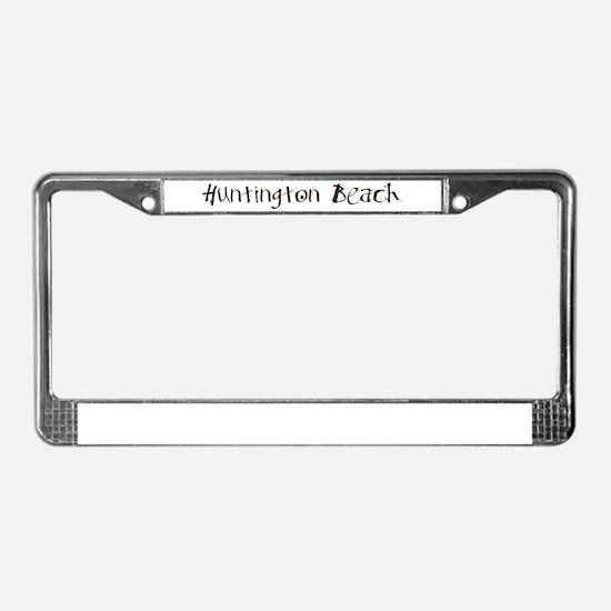 Huntiington Beach License Plate Frame