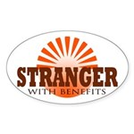 Stranger Oval Sticker