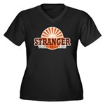 Stranger Women's Plus Size V-Neck Dark T-Shirt