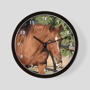 Chestnut Horse Clock