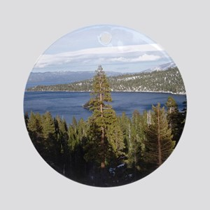Tahoe Vista Ornament (Round)