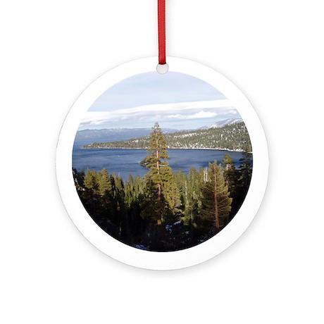 Tahoe Vista Ornament (Round)