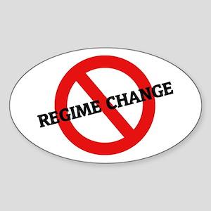 Anti Regime Change Oval Sticker