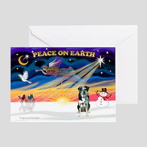 XmasSunrise/Catahoula Greeting Card