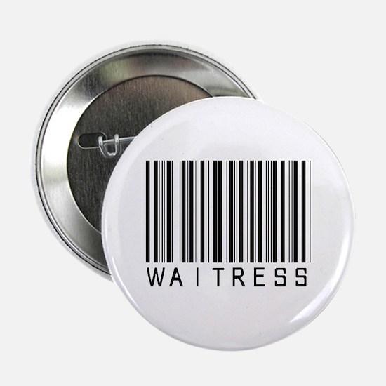 """Waitress Barcode 2.25"""" Button"""