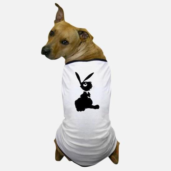 Bunny Siloutte Dog T-Shirt
