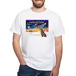 XmasSunrise/Greyhound(brin) White T-Shirt