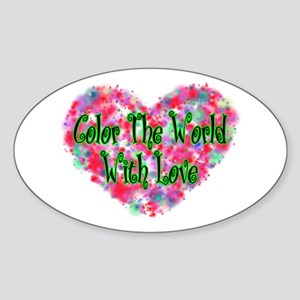 Color The World Oval Sticker