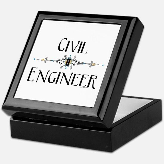 Civil Engineer Line Keepsake Box