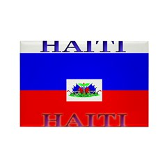 Haiti Haitian Flag Rectangle Magnet (100 pack)