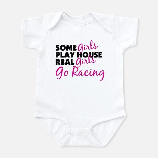 Real Girls Go Racing Infant Bodysuit
