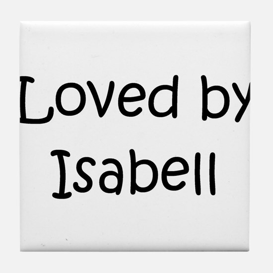 Cute Isabell Tile Coaster