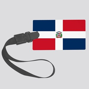 Dominican Republic Flag Large Luggage Tag