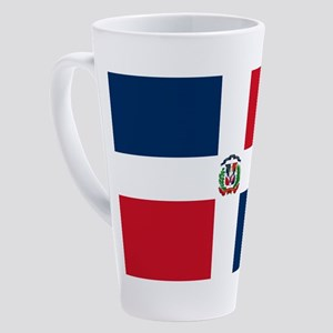 Dominican Republic Flag 17 oz Latte Mug