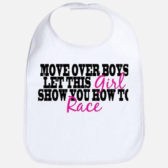 Move Over Boys Bib