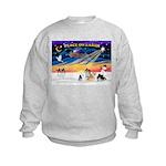 XmasSunrise/4 Pomeranians Kids Sweatshirt